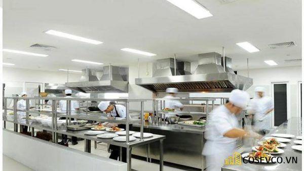 Khu vực bếp của thiết kế nội thất nhà hàng