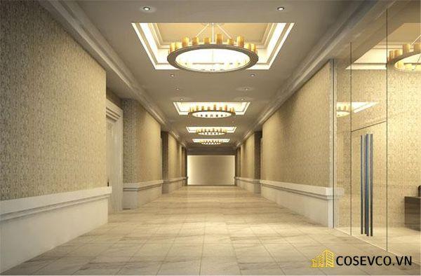 Không gian hành lang sảnh bước vào khu vực làm lễ cưới