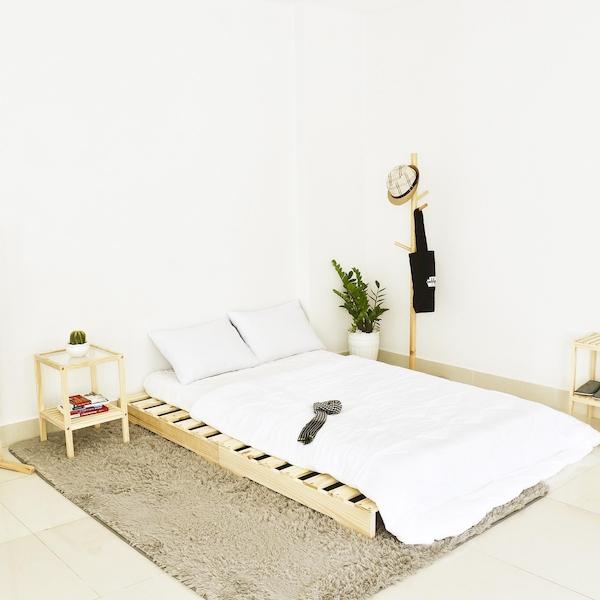 Giường gỗ Pallet - Kích thước 120x200x10