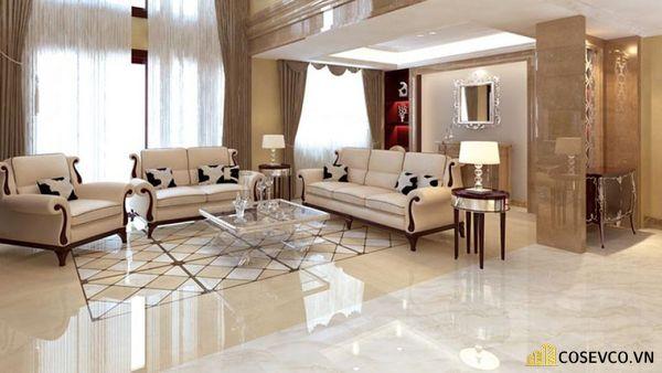 Gạch lát nền phòng khách sang trọng
