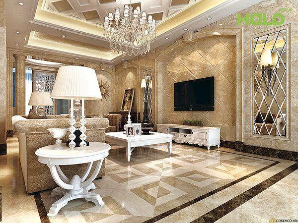 Mẫu gạch lát nền phòng khách đẹp - Hình ảnh 11
