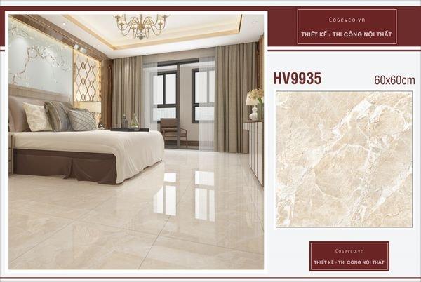 Mẫu gạch lát nền phòng ngủ kích thước 60x60 - Mã HV9935