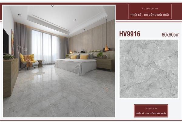 Mẫu gạch lát nền phòng ngủ kích thước 60x60 - Mã HV9916