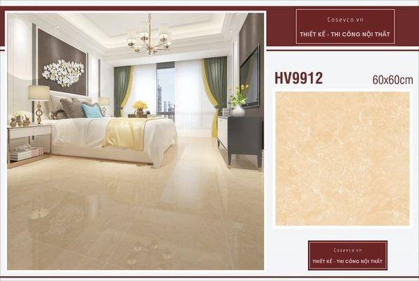 Mẫu gạch lát nền phòng ngủ kích thước 60x60 - Mã HV9912