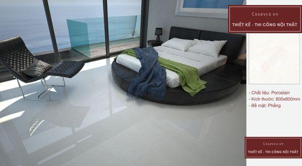 Mẫu gạch lát nền phòng ngủ kích thước 80 x 80 cm