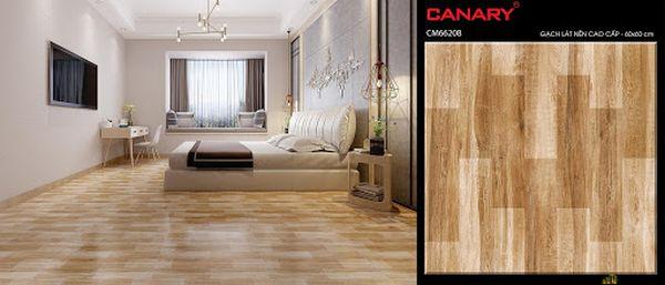 Mẫu gạch lát nền phòng ngủ kích thước 60 x 60 cm