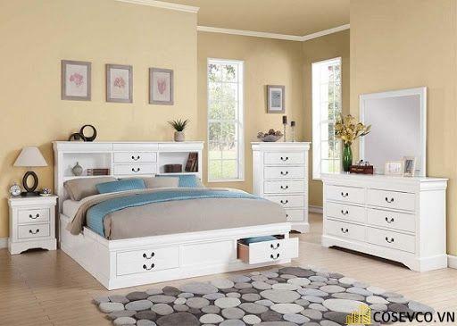 Giường ngủ gỗ công nghiệp có ngăn kéo - Mẫu 6