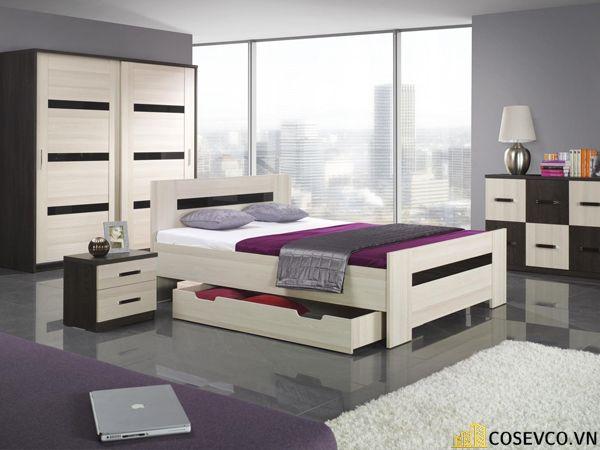 Mẫu giường hộp có ngăn kéo thông minh - Mẫu 5