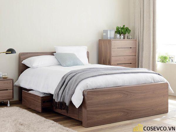 Mẫu giường hộp có ngăn kéo thông minh - Mẫu 4