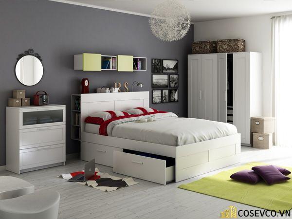 Mẫu giường hộp có ngăn kéo thông minh - Mẫu 2