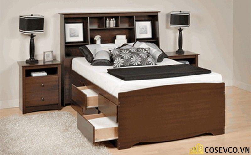 Mẫu giường hộp có ngăn kéo thông minh - Mẫu 9