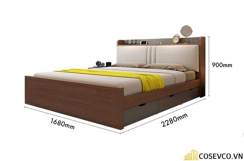 Mẫu giường hộp có ngăn kéo thông minh - Mẫu 1