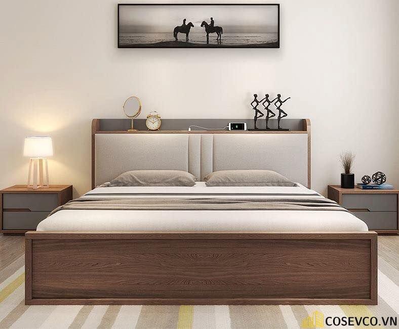 Giường hộp có ngăn kéo bằng gỗ tự nhiên - Mẫu 2