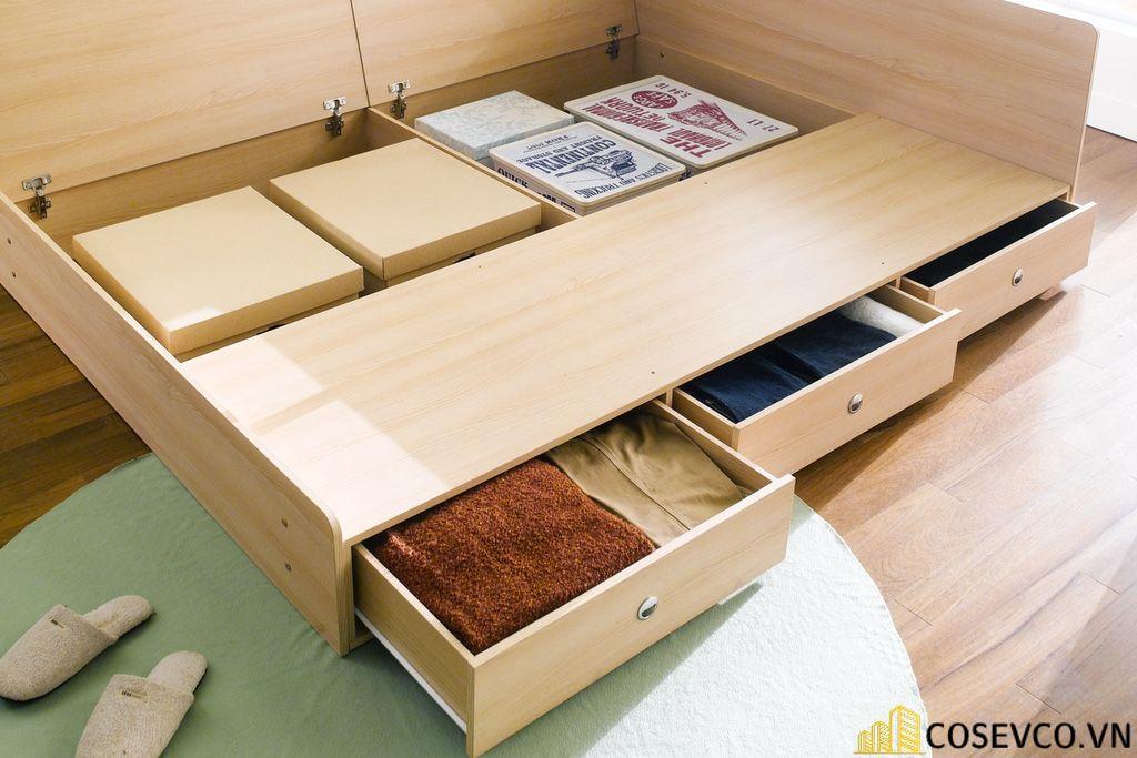 Giường ngủ gỗ công nghiệp có ngăn kéo - Mẫu 5
