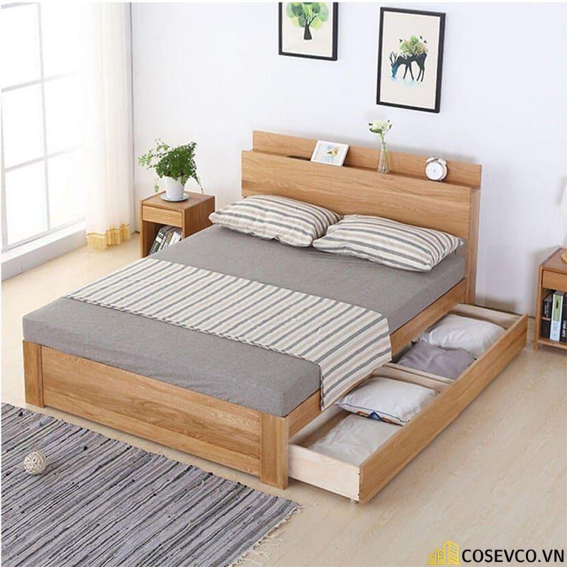 Mẫu giường hộp có ngăn kéo thông minh - Mẫu 8