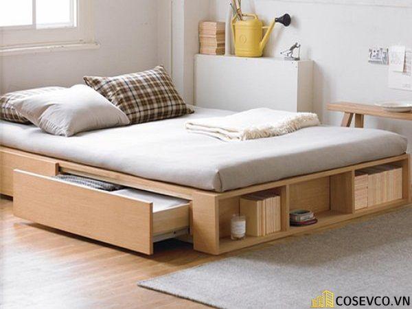 Giường ngủ gỗ công nghiệp có ngăn kéo - Mẫu 3