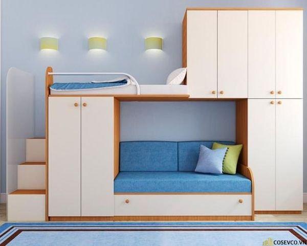 Giường tầng kết hợp tủ quần áo cho bé trai - Mẫu 7