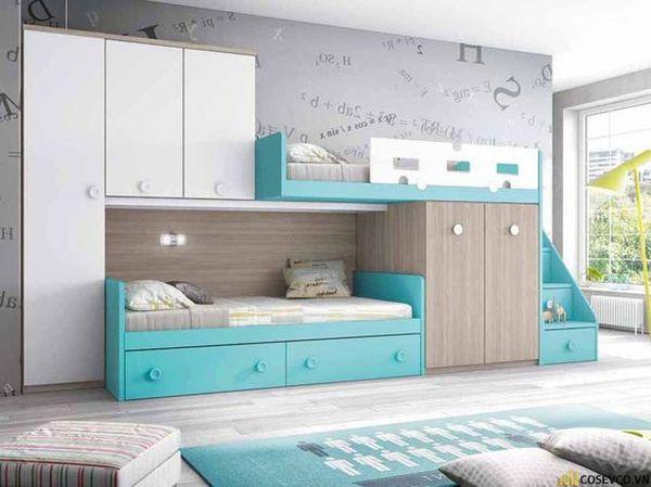Giường tầng kết hợp tủ quần áo cho bé trai - Mẫu 8