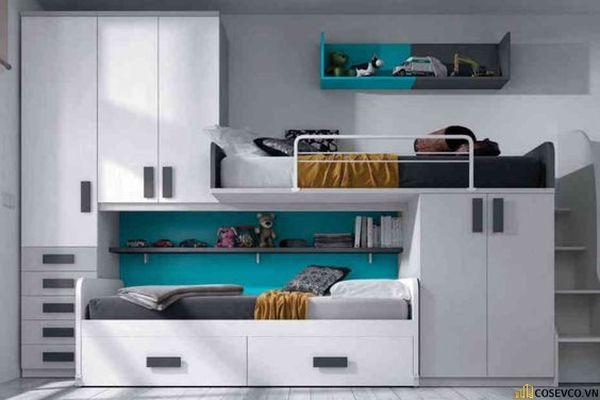 Giường tầng kết hợp tủ quần áo cho bé trai - Mẫu 10