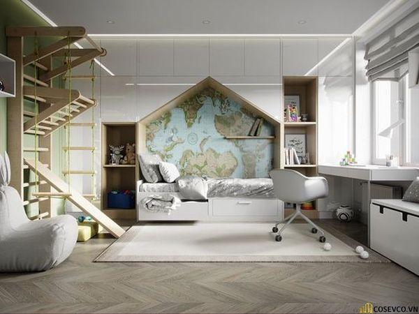 Giường tầng kết hợp tủ quần áo cho bé trai - Mẫu 11