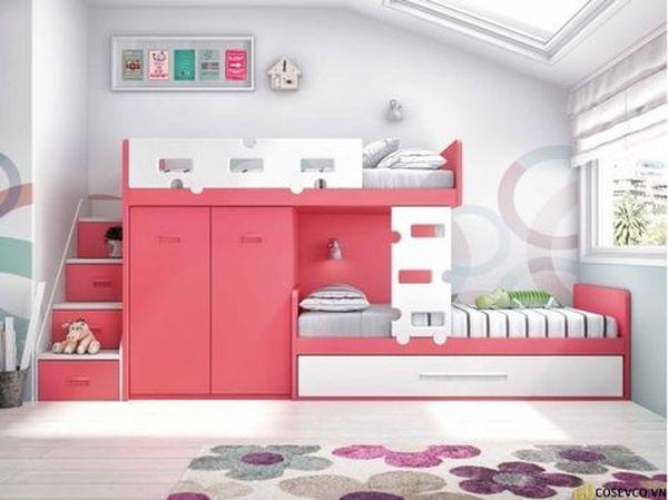 Giường tầng kết hợp tủ quần áo cho bé trai - Mẫu 12