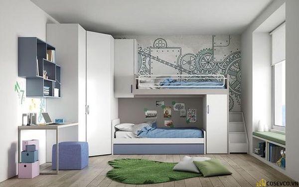 Giường tầng kết hợp tủ quần áo cho người lớn - Hình ảnh 7