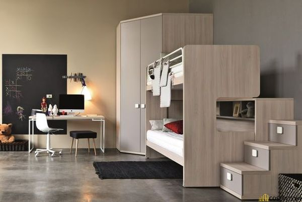 Giường tầng kết hợp tủ quần áo cho người lớn - Hình ảnh 8