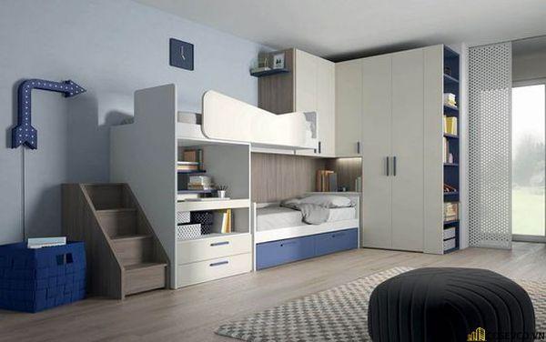 Giường tầng kết hợp tủ quần áo cho người lớn - Hình ảnh 12