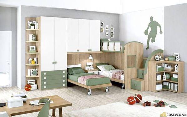 Giường tầng kết hợp tủ quần áo cho người lớn - Hình ảnh 13