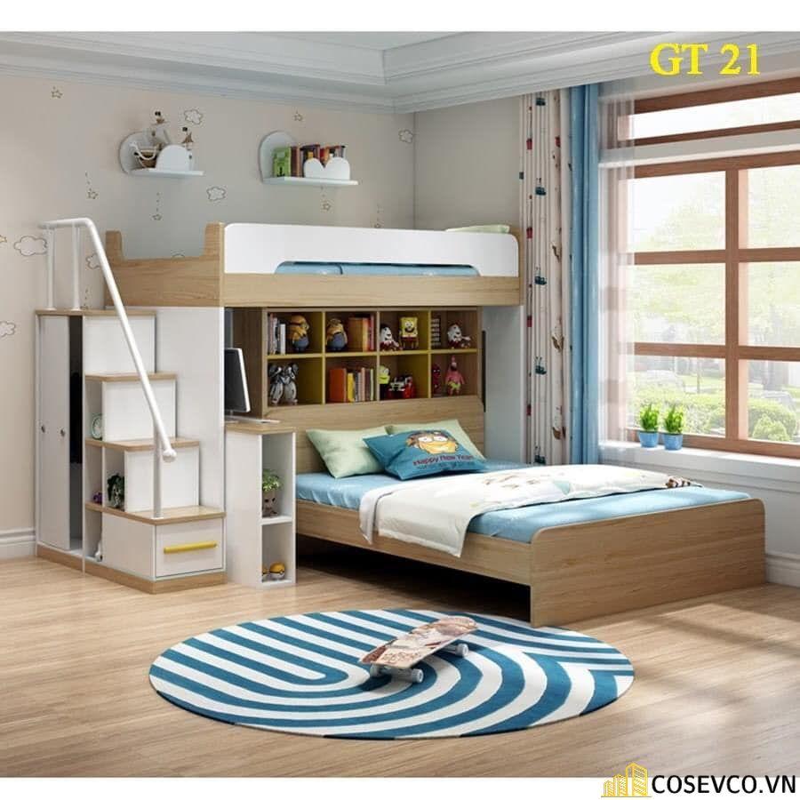 Giường tầng kết hợp tủ quần áo cho bé trai - Mẫu 1
