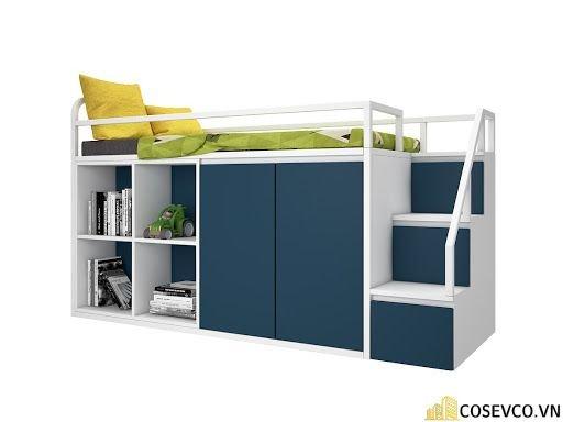 Mẫu giường tầng kèm tủ quần áo hiện đại - Mẫu 2