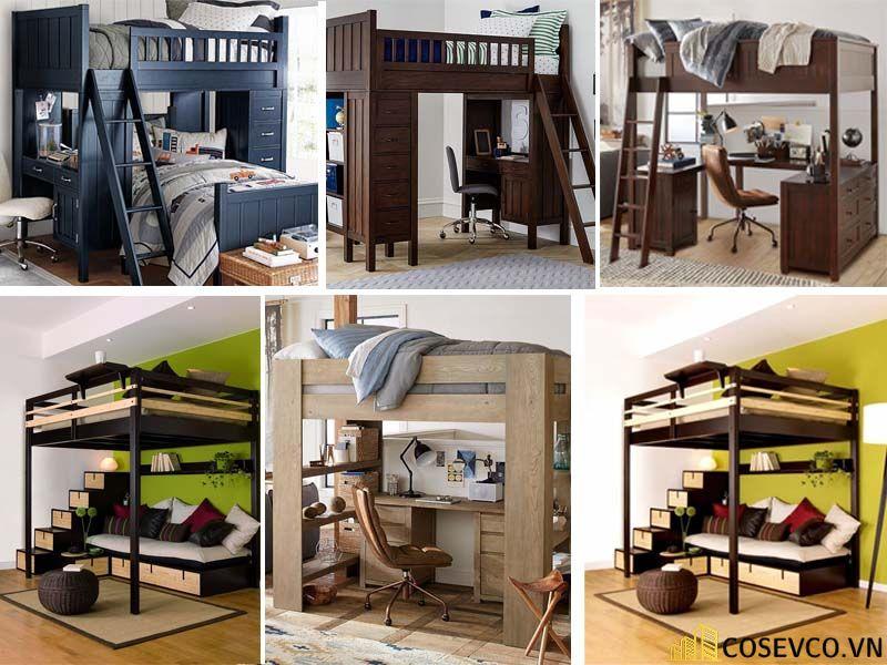 Mẫu giường tầng kết hợp tủ mới nhất hiện nay