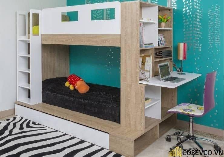 Giường tầng kết hợp tủ quần áo cho bé trai - Mẫu 2