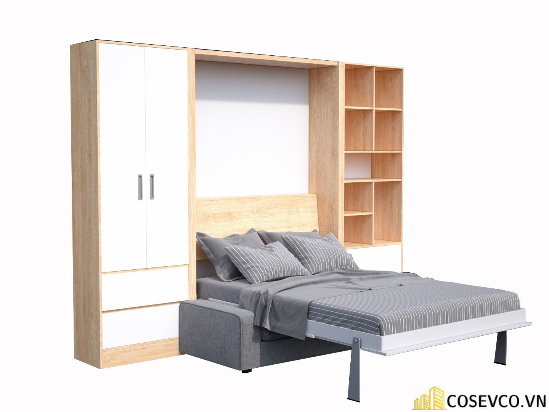 Mẫu giường thông minh kết hợp tủ tạo không gian sang trọng tinh tế - M1