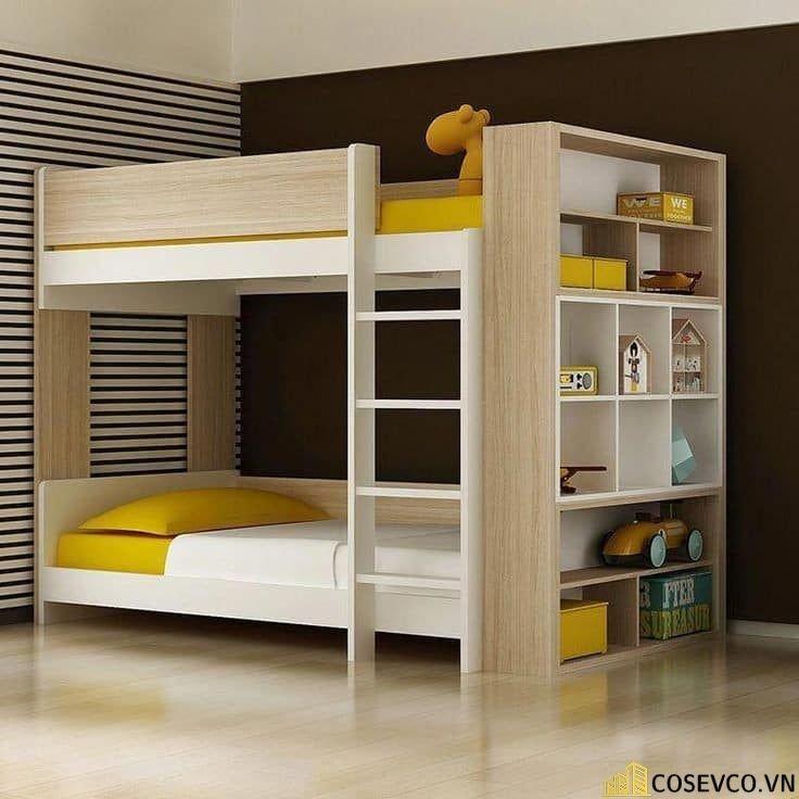 Mẫu giường tầng kèm tủ quần áo hiện đại - Mẫu 4