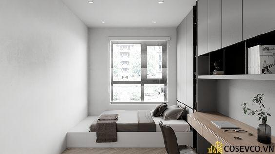 Thiết kế ấn tượng với tông màu trắng chủ đạo tạo không gian tối giản gọn gàng nhất