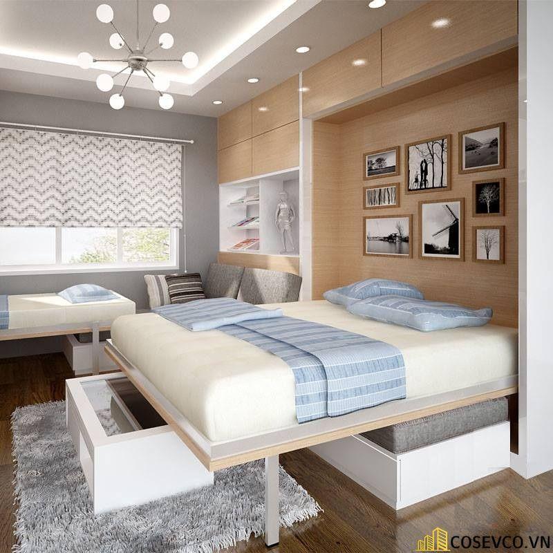 Mẫu giường ngủ thông minh tiện ích nhất hiện nay - Mẫu 4