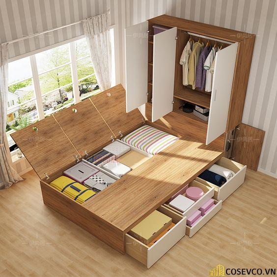 Mẫu giường ngủ thông minh tiện ích nhất hiện nay - Mẫu 6