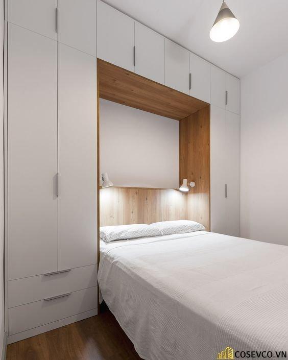 Mẫu giường gấp dọc kết hợp tủ đồ đang được rất nhiều người ưa chuộng hiện nay