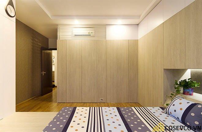 Tủ quần áo âm tường gỗ tự nhiên sang trọng - Mẫu 1