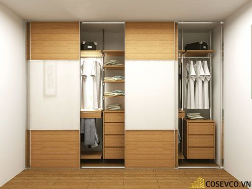 Tủ quần áo gỗ công nghiệp đẹp - Mẫu 5