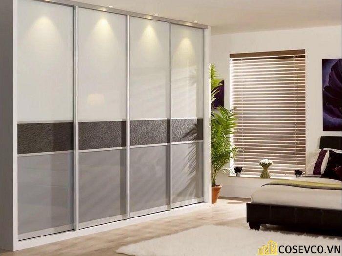 Tủ âm tường nhôm kính đơn giản sang trọng - Mẫu 5