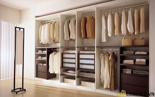 Tủ quần áo gỗ công nghiệp đẹp - Mẫu 2