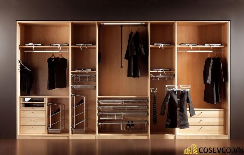 Mẫu tủ quần áo đơn giản sang trọng
