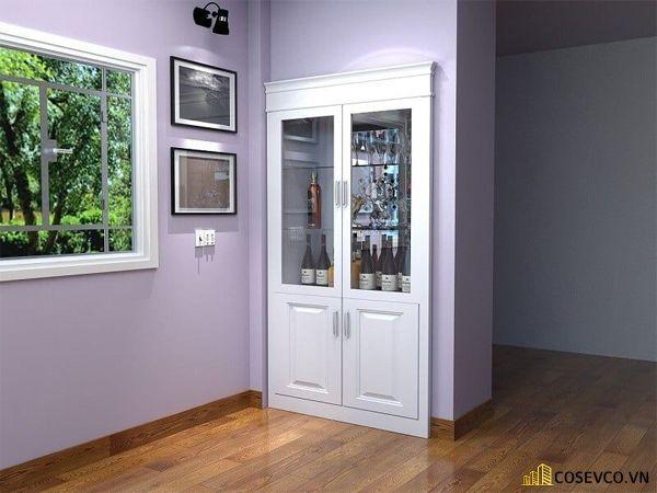 Tủ rượu âm tường là tủ được thiết kế vào trong tường