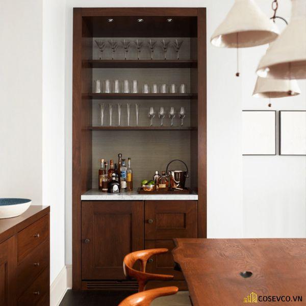 Mẫu tủ rượu âm tường phòng khách đẹp – Mẫu 3