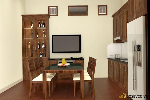 Mẫu tủ rượu phòng bếp đẹp – Mẫu 1