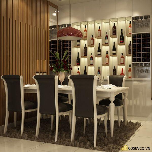 Tủ rượu âm tường kiểu dáng tân cổ điển