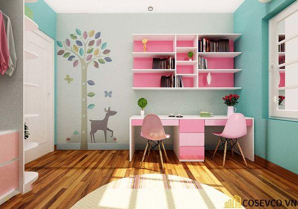 Thiết kế phù hợp với gia đình có 2 bé cùng học tập trong một không gian, đặc biệt là gia đình có bé sinh đôi - M6