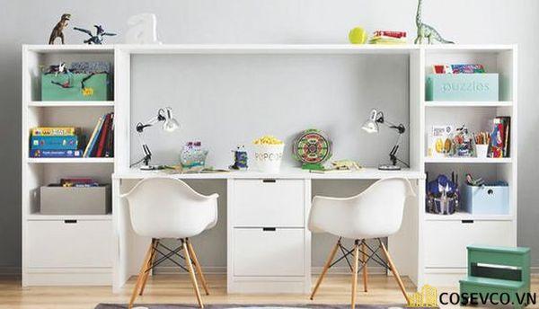 Thiết kế phù hợp với gia đình có 2 bé cùng học tập trong một không gian, đặc biệt là gia đình có bé sinh đôi - M7